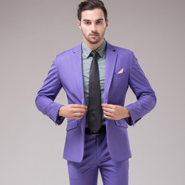 $enCountryForm.capitalKeyWord NZ - Wholesale Price Light Purple Classic Style Wedding Suits Two Pieces (Jacket+Pants) Best Men Suits Custom Made
