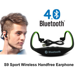 $enCountryForm.capitalKeyWord NZ - Original S9 bluetooth Headphones Sport Wireless Bluetooth 4.0 Earphone Fashionable Headset With TF Card Slot For iPhone Xiaomi