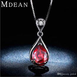 Necklaces Pendants Australia - 2016 New red stone necklace shiny jewelry pendant necklace women cz diamond white 585 gold plated wedding accessories dress design RHN011