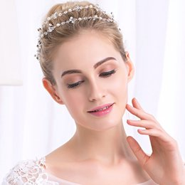 Silver Hairpiece NZ - Fashion Austrian Crystal Long Headbands Bridal Wedding Hair Jewelry Accessories Bride's Tiaras Hairpieces for Women JCG046