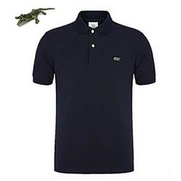 El más rápido de envío más la marca de manga corta polo hombres deportivos  tops camisetas Camisa hombres transpirable sólido camiseta de hombre ropa  S- 4XL 090012d187e9a