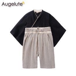 BaBies kimono online shopping - 2016 Spring Summer Newborn baby rompers fashion cute Japanese kimono long sleeve baby costume clothes M T