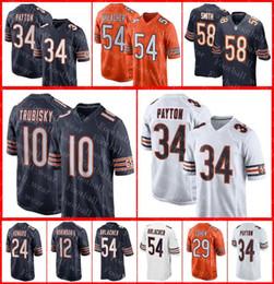 Chicago Bears Jersey 10 Mitchell Trubisky 58 Roquan Smith 34 Walter Payton  54 Brian Urlacher 52 Khalil Mack Mike Ditka Football Jerseys 593b65c6b