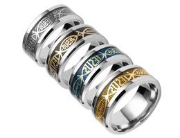 Jewelry for finger nail online shopping - 100pcs Stainless Steel Christian JESUS ring Finger ring Nail rings Silver Gold Band Rings for Women Men Believe inspirational jewelry R211