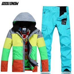 36c04c983f Ski Clothing Brands Australia - GSOU SNOW Brand Ski Suit Men Snowboarding Jackets  Pants Winter Ski