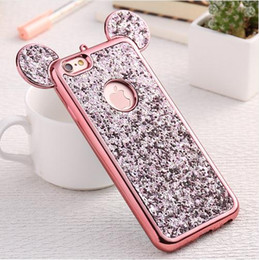 capa iphone glitter 2019 - Glitter Cover For iPhone 6 6S Plus iPhone 7 8 Plus X Phone Case Cute 3D Coque Capa For iPhone SE 5S S Cases cheap capa i