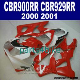 Honda Cbr929 Australia - High grade Fairings set for Honda CBR900RR CBR929 2000 2001 red white fairing kit CBR929RR00 01 QR45