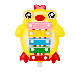 LoveLy games online shopping - Intelligence Percussion Instrument Lovely Chick Children Early Childhood Music Guoqin Octave Noisemaker Toy Parent Child Game yy W
