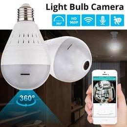 Cctv Wifi Ip Australia - Bulb Light Wireless 960P IP Camera-Wifi 360 Degree Security CCTV Camera Panoramic FishEye Night Vision Lamp Mini Camera YITUO