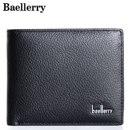 $enCountryForm.capitalKeyWord NZ - Baellerry Men Genuine Leather Wallet Men Fashion Short Male Wallets Solid Purse Wallet Card Holder Dollar Price MWS021