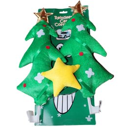 reindeer ears NZ - New Green Christmas tree Car Costume Tree & Star Christmas Fun Rudolph Reindeer Ears for All Vehicls Car Decoration Xmas Gift
