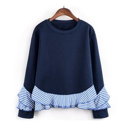 Ruffled Sleeve Sweatshirt NZ - Fashion Womens Long Sleeve Sweatshirt O Neck Ruffle Causal Tops Blouse blusas mujer de moda camisetas mujer top femme ropa mujer
