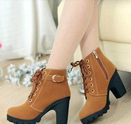 d76d6e0b5ec SZSGCN615-2018 New High quality woman boots fashion thick heel motorcycle  female black Martin boots shoes zapatos mujer ankle platform punk