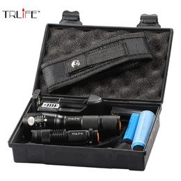 8000Lumen Outdoor Led Tactical Flashlight T6 / L2 Ultra Bright Focus Zoom Torch met batterij + Mini Flashlight + Charger