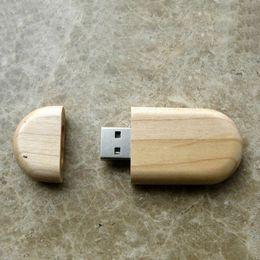 $enCountryForm.capitalKeyWord NZ - 10 Piece 16GB 32GB No Logo Circular Wood U Disk Capacity Enough U Disk USB3.0 Environmental protection Circular USB Flash Drives