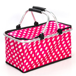 Foldable duFFel bag online shopping - Portable Camping Picnic Basket Fresh Food Lunch Cooler Box Hiking Kid Women Men Foldable Storage Boxes Waterproof bs Ww