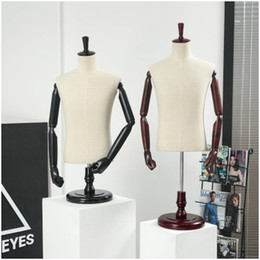 displays for clothes NZ - Fashion Men's Best Dressmaker Mannequin Fabric Mannequin For Clothes Display