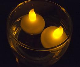$enCountryForm.capitalKeyWord Australia - LED Tealight Tea Candles Waterproof Christmas Floating Flameless LED Light Lamp Bulb for Wedding Birthday Party Decoration