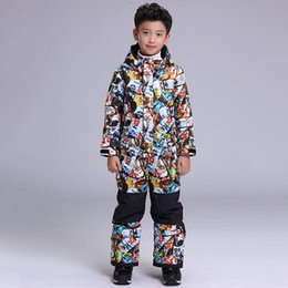 $enCountryForm.capitalKeyWord NZ - GSOU SNOW Boys One Piece Ski Suit Windproof Waterproof Outdoor Sport Wear Skiing Snowboard Suit Kids Children Super Warm Coat