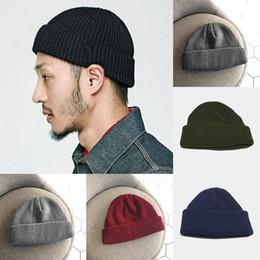 2018 Fashion Men Knitted Skullies Caps Cotton Thread Hip Hop Hat Beanie  Women Casual Retro Warm Brimless Beanie Adult Skullcap e635e1c90a44