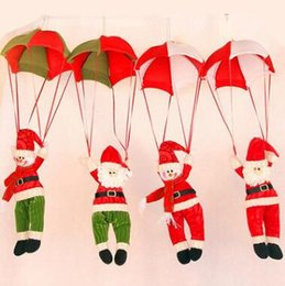 Decor Ornament Australia - 4 Styles Christmas Tree Hanging Decor Parachute Snowman Santa Claus Doll Stuffed Pendant Ornaments Decorations Xmas Gift CCA10553 20pcs