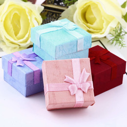 packaging bows NZ - GENBOLI Jewelry Box Packaging Display Case Cards Bow Paper Bracelet Watch Box Organizer Gifts