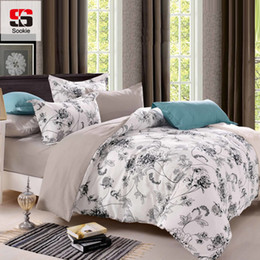 Discount bird comforter sets - Sookie Queen Size Bedding Sets Pastoral Bird Printed Floral King Size Duvet Cover Set Pillowcases Comforter Cover Bed Li