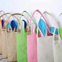 Novo pintado à mão diy coelhinho da páscoa saco privado personalizado doce saco de presente saco de orelha de coelho material natural. Mais de 20 (frete grátis / fedex ou dhl)