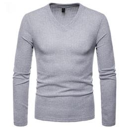 $enCountryForm.capitalKeyWord Australia - New Men knitted sweater Autumn Winter Undershirts Solid long sleeve v neck casaul Slim Fit Knittings Cotton knitwear tops
