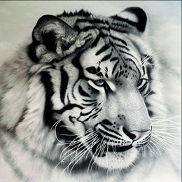 paint diamond 2019 - Tiger 5D Diamond Embroidery Painting DIY Handmade Pictuer Resin Diamond Mosaic Wall Painting Poster Arts Gift cheap pain
