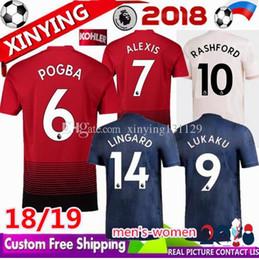 b2b36c556d0 TOP 18 19 MAN uomo Manchester United Home maglia da calcio 2018 2019 Away  3RD MARTIAL LINGARD RASHFORD UTD LUKAKU POGBA ALEXIS maglia da calcio