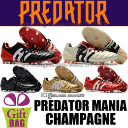6d077a808ff5 predator mania champagne 2019 - Mens Leather Soccer Shoes Predator Mania  Champagne FG Football Boots Outdoor