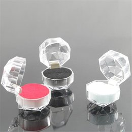 Wholesale Small Acrylic Display Box Jewelry Earrings Rings Storage Boxes Organizer Gifts Carrying Cases for Jewelry