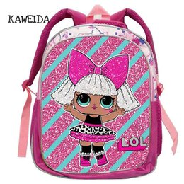 Wholesale Kid Backpack LOL School Bag for Kindegarten Girls Cute Small Glam Glitter LOL Pets Unicorn Dolls Schoolbag Book Bags mochila quot Y18110107