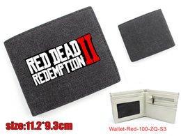 Venta al por mayor de Giancomics Hot Red Dead: Redención Cartera Lienzo Moda Dinero Moneda Conveniente Tarjeta de bolsillo Cool Holder Otaku Regalos