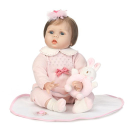 $enCountryForm.capitalKeyWord UK - 22inch Very soft silicone vinyl reborn doll lifelike real touch children wedding gifts