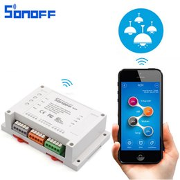 $enCountryForm.capitalKeyWord Australia - Sonoff 4CH Smart WiFI Switch 4 Channel Remote Control Home Automation Module on off Controller Wireless Diy Switches 10A 2200W