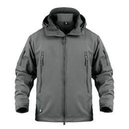 Skin Jacket Brown UK - Shark Skin V5 Soft Shell Tactical Jacket Men Waterproof Winter Fleece Coat Army Clothes Camouflage Windbreaker Jackets