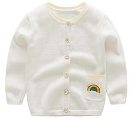 82259d353177d 8 Fotos Compra Online Diseñar suéteres bebé-Sweet Girl Hollow Sweater Cinco  colores Baby Rainbow Cardigan con