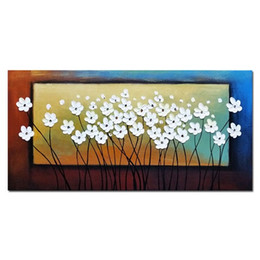 Art oil pAintings modern flower online shopping - Wall Art Flowers Handpainted HD Print Modern Abstract Landscape Art Oil Painting Home Deco on Canvas Multi sizes Frame Options l58