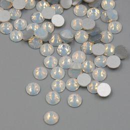 Опт Высокое Качество SS3-SS30 Белый Опал Цвет 1440 ШТ. 3D Nail Art Плоской Задней Части Не Исправления Стразы Не Исправление Стеклянные Кристаллы Камня