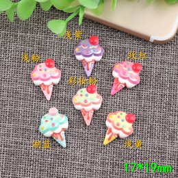 Sweet gameS online shopping - 17 mm Mixed Sweet DIY resin ice cream charms cone kawaii flatback cabochon mobile phone shell imitation game accessories
