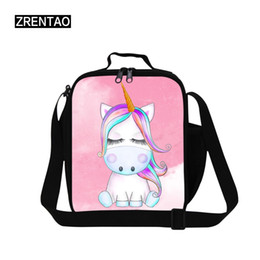 small pens UK - ZRENTAO Cartoon Cute Unicorn Small Cheap Convenient Pencil Pen Animal Printed Case For Trip School Picnic Cosmetic Make Up Bag