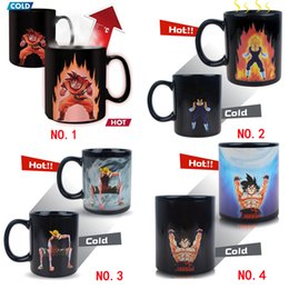 cups balls magic Canada - 300CC Anime Dragon Ball Color Changing Coffee Mugs Ceramic One Pieces Tea Cups and Mugs Creative Magic Mark Drinkware