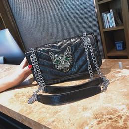 sequin bag clothing 2018 - 2018 new Women's clothing package Rainbow bag PU leather handbag famous designer fashion Chain wallet shoulder bag