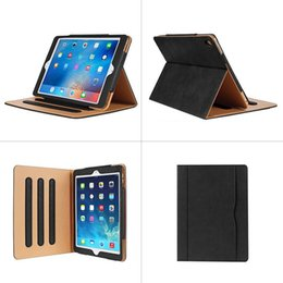 China Wallet Leather Australia - Luxury Tan Soft Leather Wallet Stand Flip Case Smart Cover for New iPad 9.7 2017 2018 Air 2 3 4 5 6 7 Air2 Pro 10.5 Mini Air2 Mini 4 60X DHL