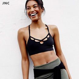 $enCountryForm.capitalKeyWord Canada - JNC Cute Sports Bra for Women Padded Running Fitness Athletic Vest Sport Bra Workout Yoga Tank Top Push Up Underwear for Female