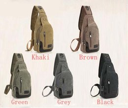 5fae2486778a 50pcs 2018 New Casual Men s Canvas   PU Leather Solid Multi Pockets  Messenger Shoulder Back Day pack Sling Chest pack Bag