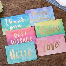 Diy fashion greeting card online shopping diy fashion greeting 2000pcs creative fashion home mothers day watercolor greeting card custom diy valentines day birthday card message thank you card m4hsunfo