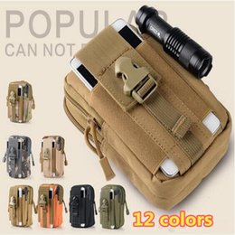 $enCountryForm.capitalKeyWord NZ - 12 colors Tactical Holster Military Molle Hip Waist Belt Bag Universal Outdoor Camouflage Cell Phone Waist Pack Wallet Pouch Purse Case DHL